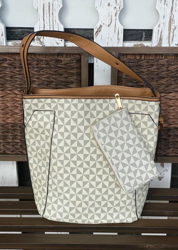 Bag Boutique Beige Bucket  Shoulder Bag