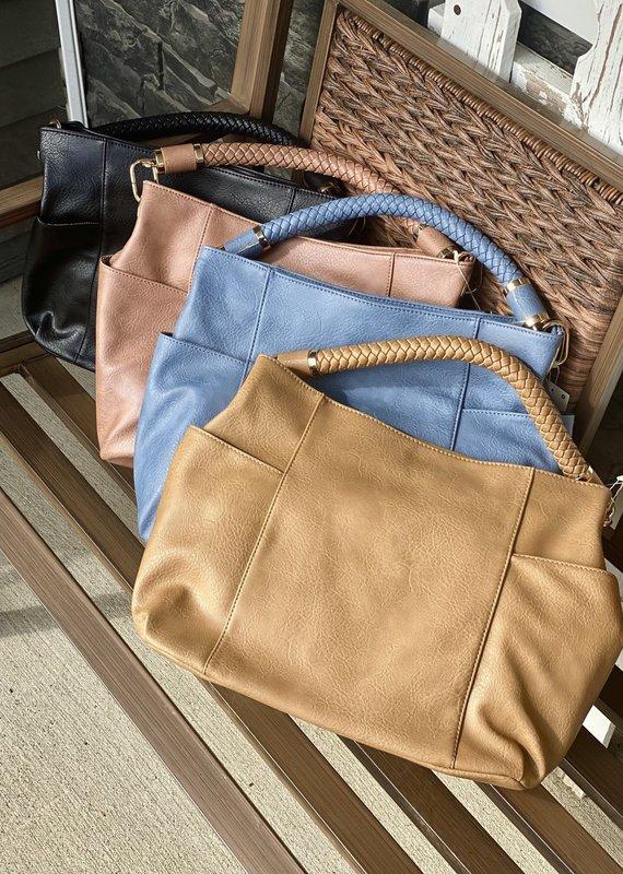Bag Boutique Braided Handle Shoulder Bag (4 Colors)