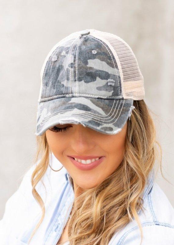 CC CC Gray Camo Mesh Hat