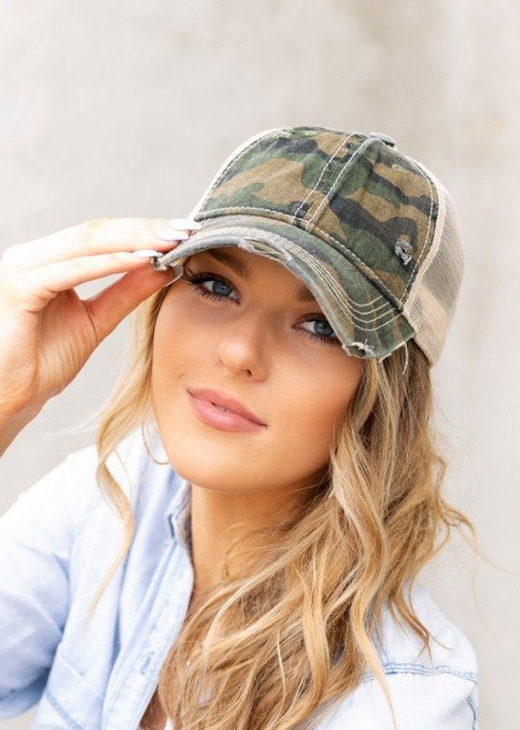 CC CC Olive Camo Mesh Hat