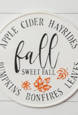 Audrey's Round Fall Sweet Fall Sign