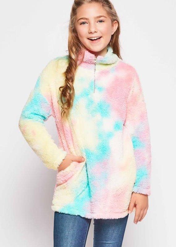GtoG Kids Tie Dye Fuzzy Pullover (XS-L)