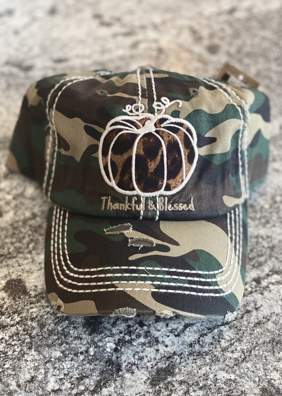 Hana Thankful & Blessed Camo Hat