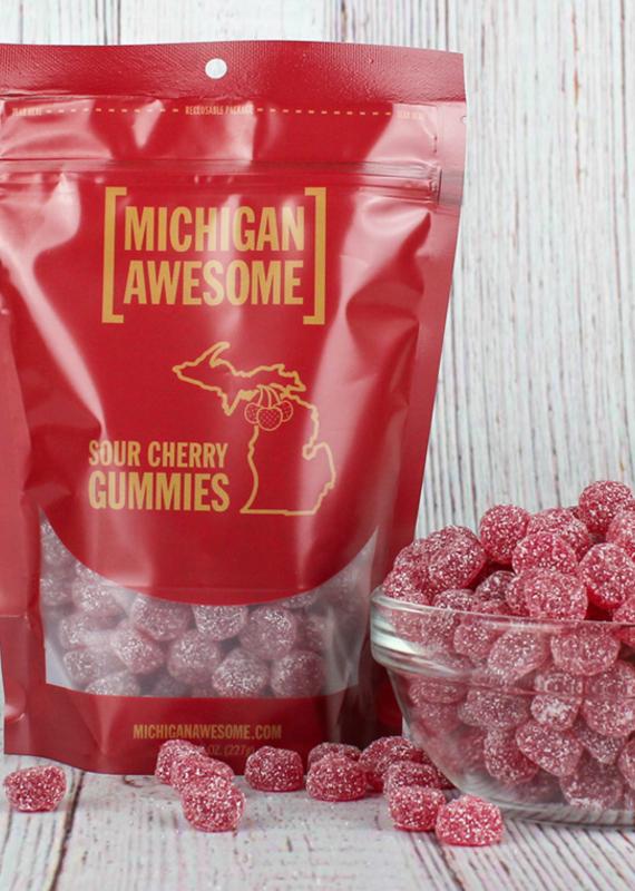 Michigan Awesome Sour Michigan Cherry Gummies