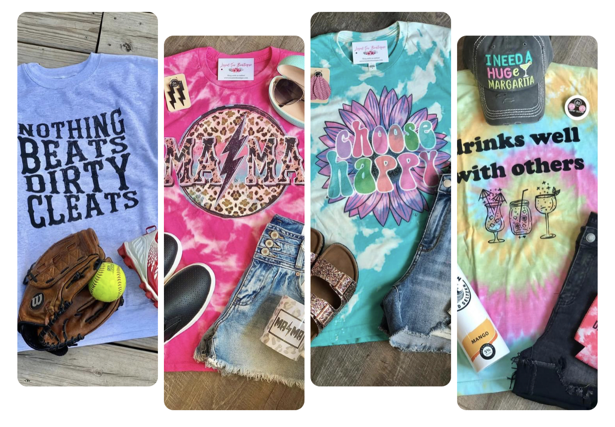 We have the BEST graphic tees and crews!!