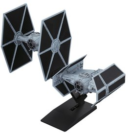Bandai 007 TIE Advanced x1 and TIE Fighter