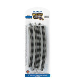 "Bachmann 28"" Radius 18 Degree Curved HO Scale EZ Track"