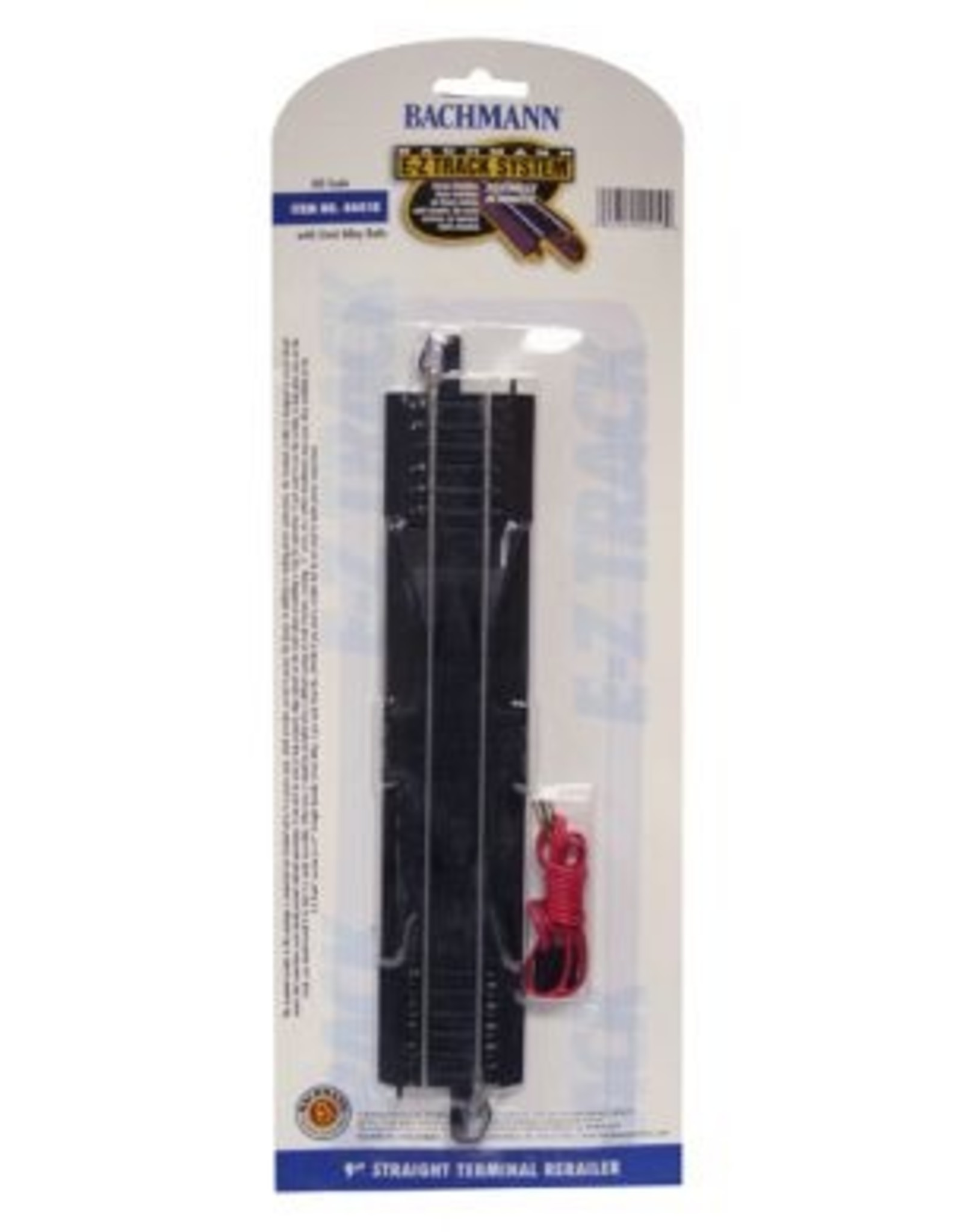 """Bachmann 9"""" Straight Terminal Rerailer with Wire HO Scale EZ Track"""