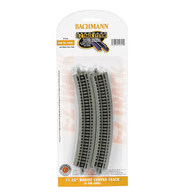 "Bachmann 44801 - 11.25"" Radius Curved - N Scale EZ Track"