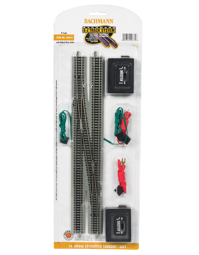 Bachmann #6 Single Crossover Turnout Left N Scale EZ Track