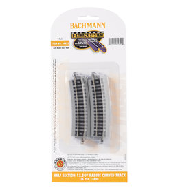 "Bachmann 44822 - Half Section 12.50"" Radius Curved - N Scale EZ Track"