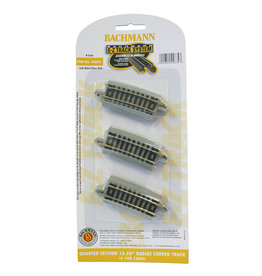 """Bachmann 44834 - Quarter Section 15.50"""" Radius Curved - N Scale EZ Track"""
