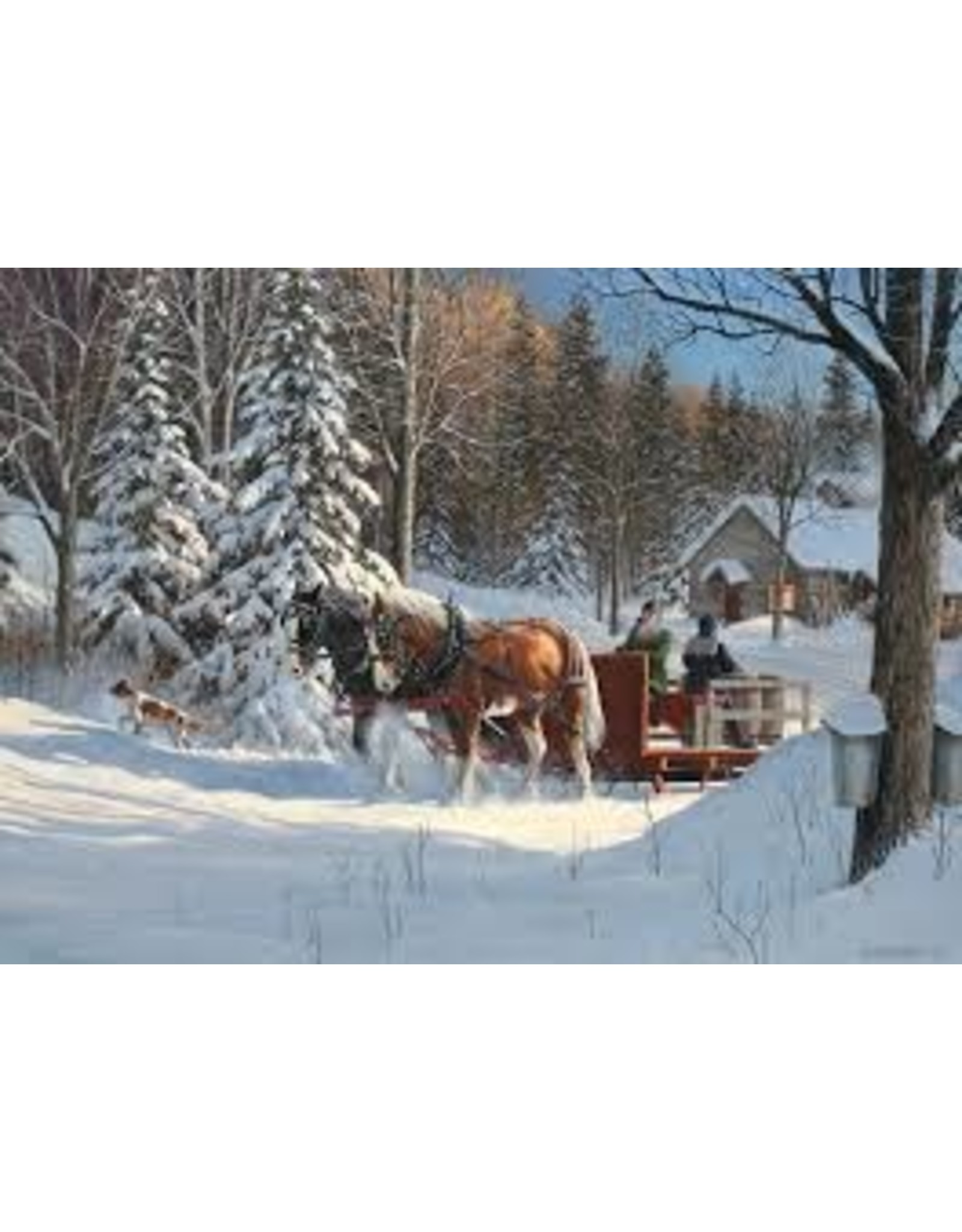 Cobble Hill Sugar Shack Horses - 1000 Piece Puzzle