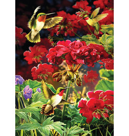 Cobble Hill Ruby Geraniums - 1000 Piece Puzzle