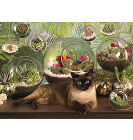 Cobble Hill Terrarium Cat - 1000 Piece Puzzle