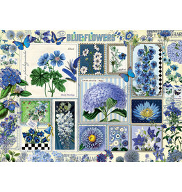 Cobble Hill Blue Flowers - 1000 Piece Puzzle
