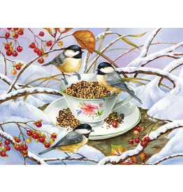Cobble Hill Chickadee Tea - 275 Piece Puzzle