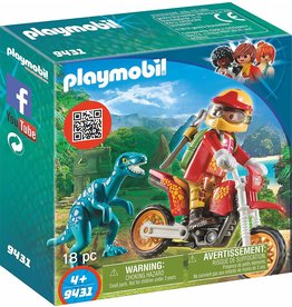 Playmobil 9431 - Motocross Bike with Raptor