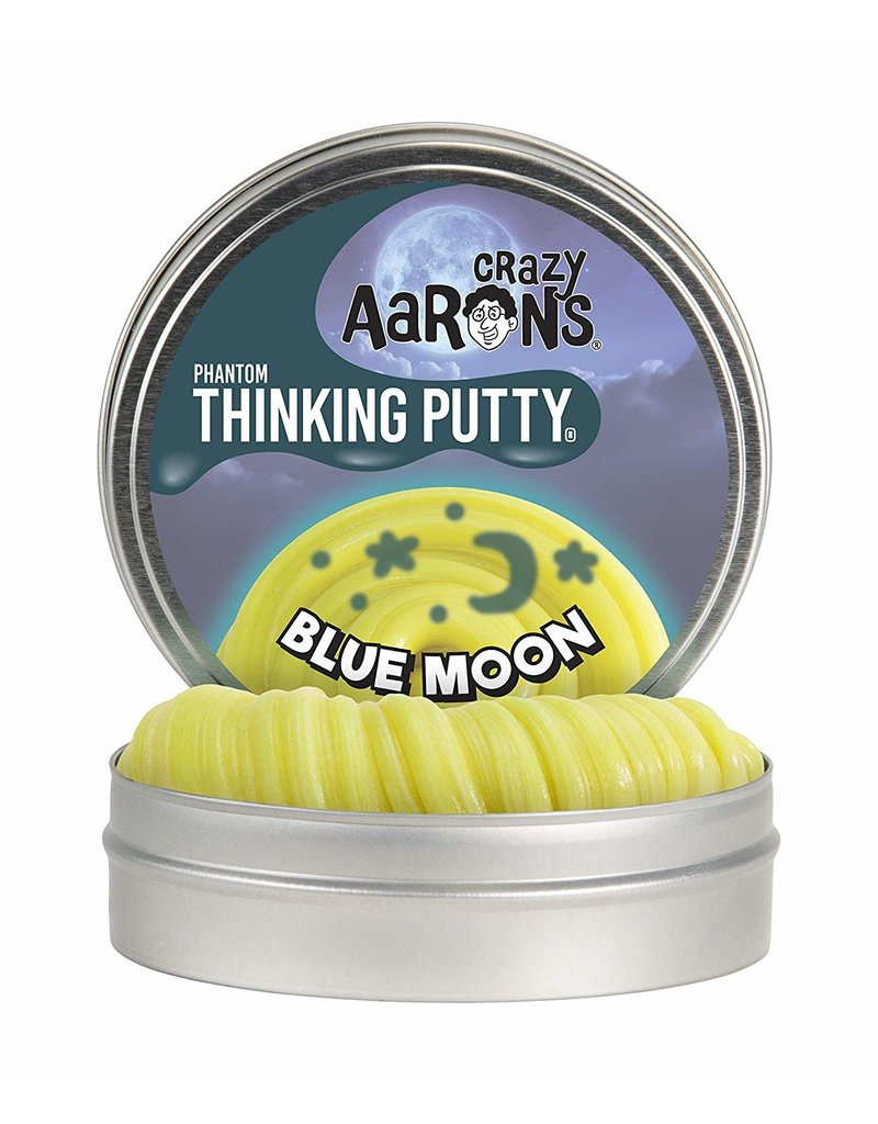 Crazy Aarons 3.2 oz - Blue Moon Glow Thinking Putty