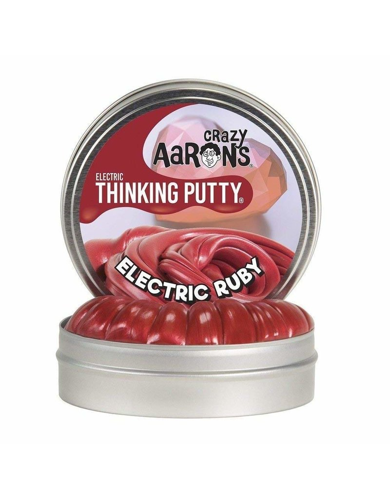 Crazy Aarons Electric Ruby Thinking Putty - Mini Tin