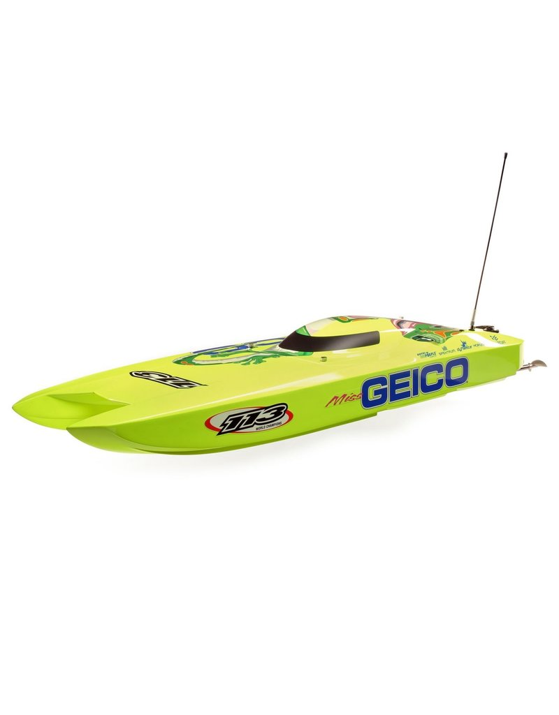 Pro Boat PRB08040 - Miss GEICO Zelos 36 Twin Brushless Catamaran RTR