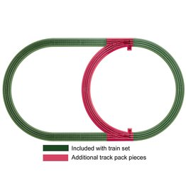 Lionel FasTrack Inner Passing Loop Add-on Track Pack