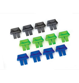 Traxxas 2943 - Battery Plug Charge Indicator Set (Green x4, Blue x4, Grey x4)