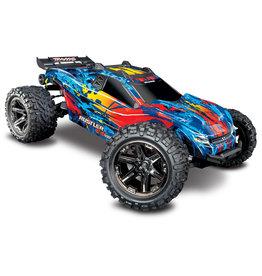 Traxxas 1/10 Rustler 4X4 VXL Brushless RTR 4WD Stadium Truck - Red