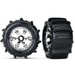 Traxxas 5672 - Geode Chrome Wheels / Traxxas Paddle Tires