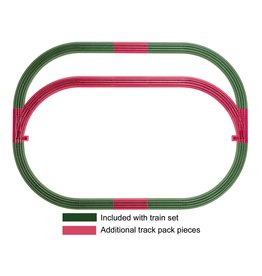 Lionel FasTrack Outer Passing Loop Add-on Track Pack