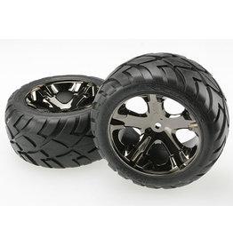 Traxxas 3773A - All-Star Black Chrome Wheels / Anaconda® Tires