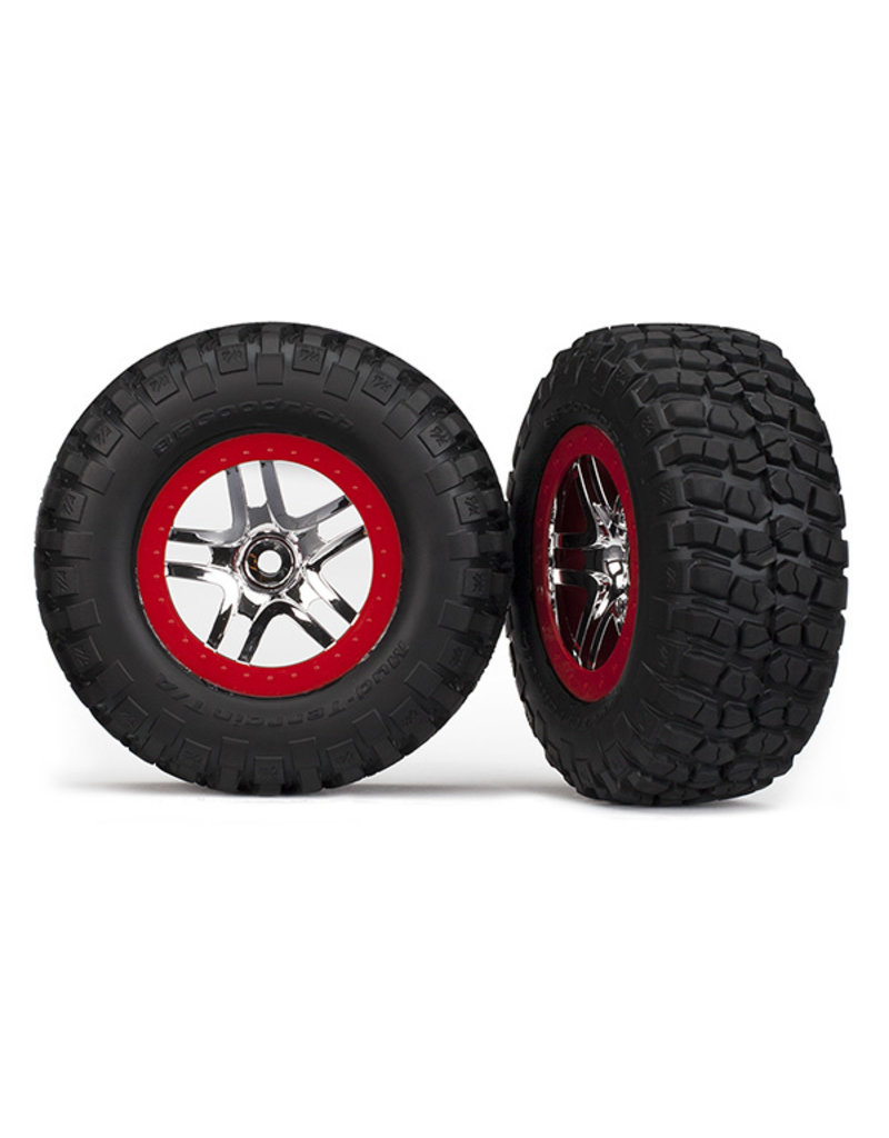 Traxxas 6873A - BFGoodrich Mud TA Rear Tires (2) (Satin Chrome) (Standard)