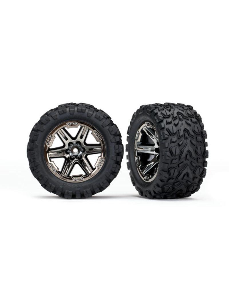 "Traxxas 6773X - Talon EXT 2.8"" Pre-Mounted Tires w/RXT Wheels (2) (Black Chrome)"