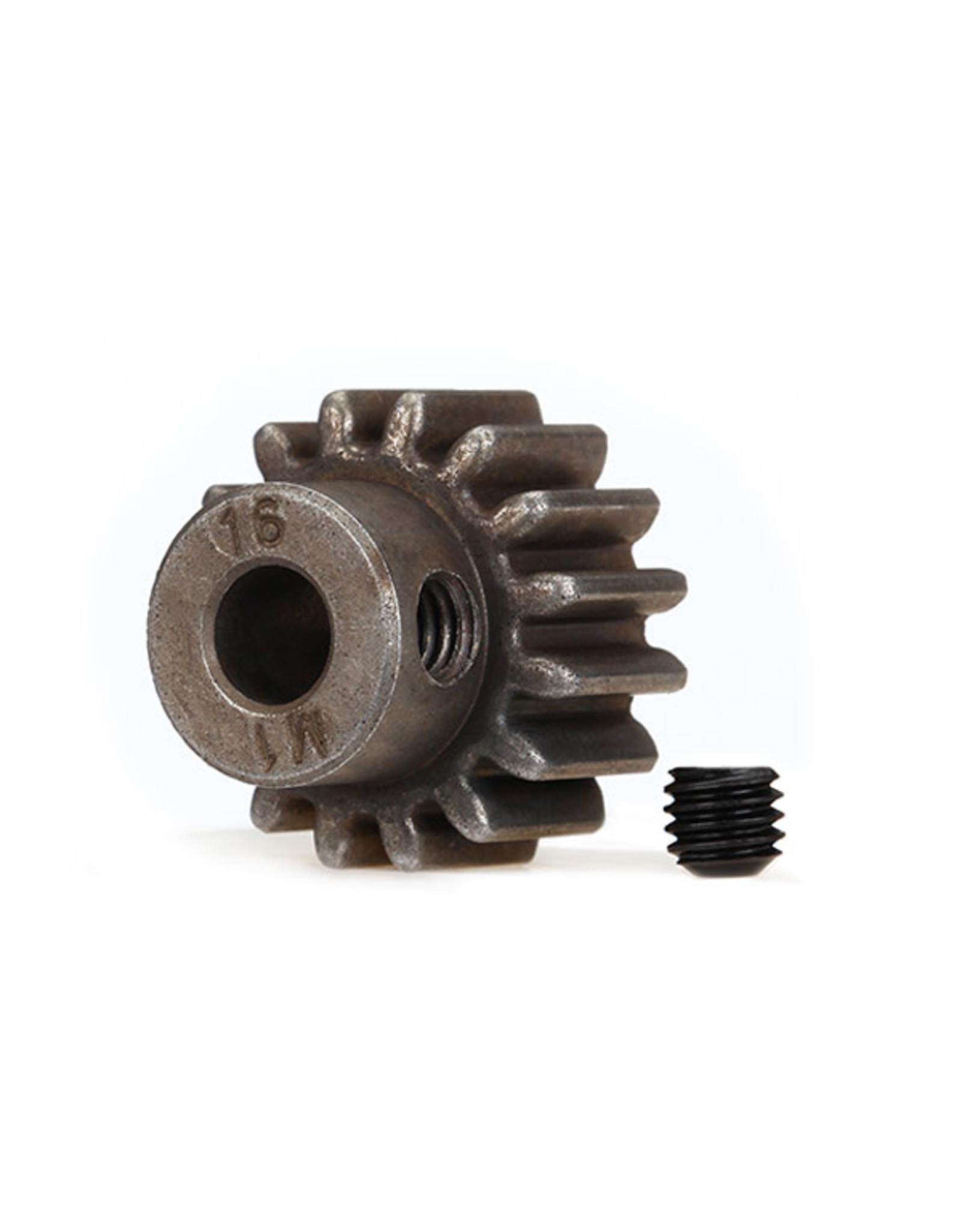 Traxxas 6489X - Hardened Steel Mod 1.0 Pinion Gear w/5mm Bore (16T)