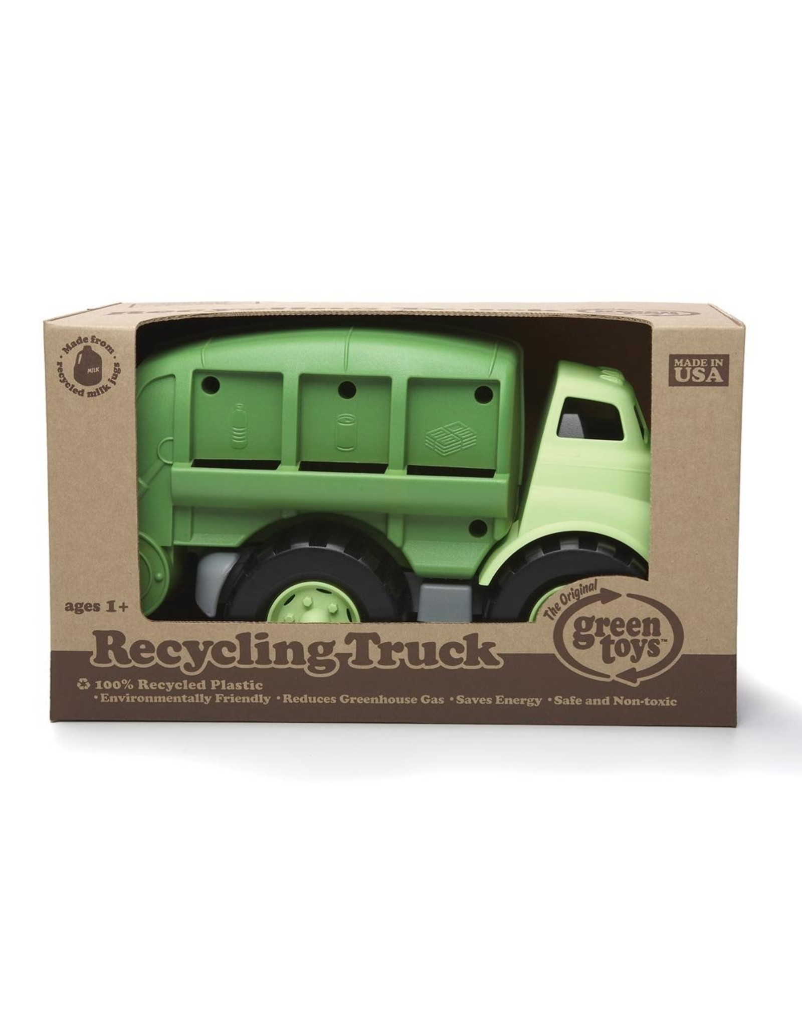 Green Toys Recycling Truck in Green Color - BPA Free, Phthalates Free Play Toy