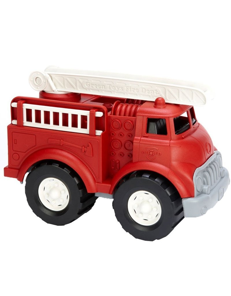 Green Toys Fire Truck in Red Color - BPA Free, Phthalates Free Play Toy
