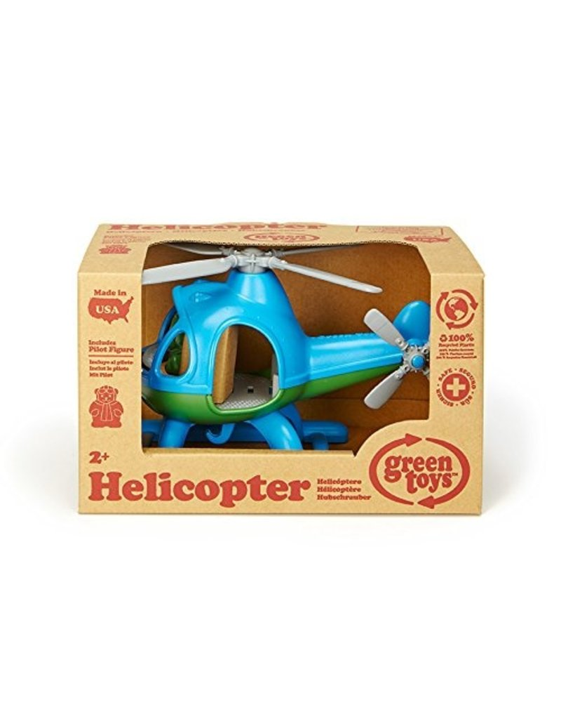 Green Toys Helicopter in Blue and Green Color - BPA Free, Phthalate Free Play Toy