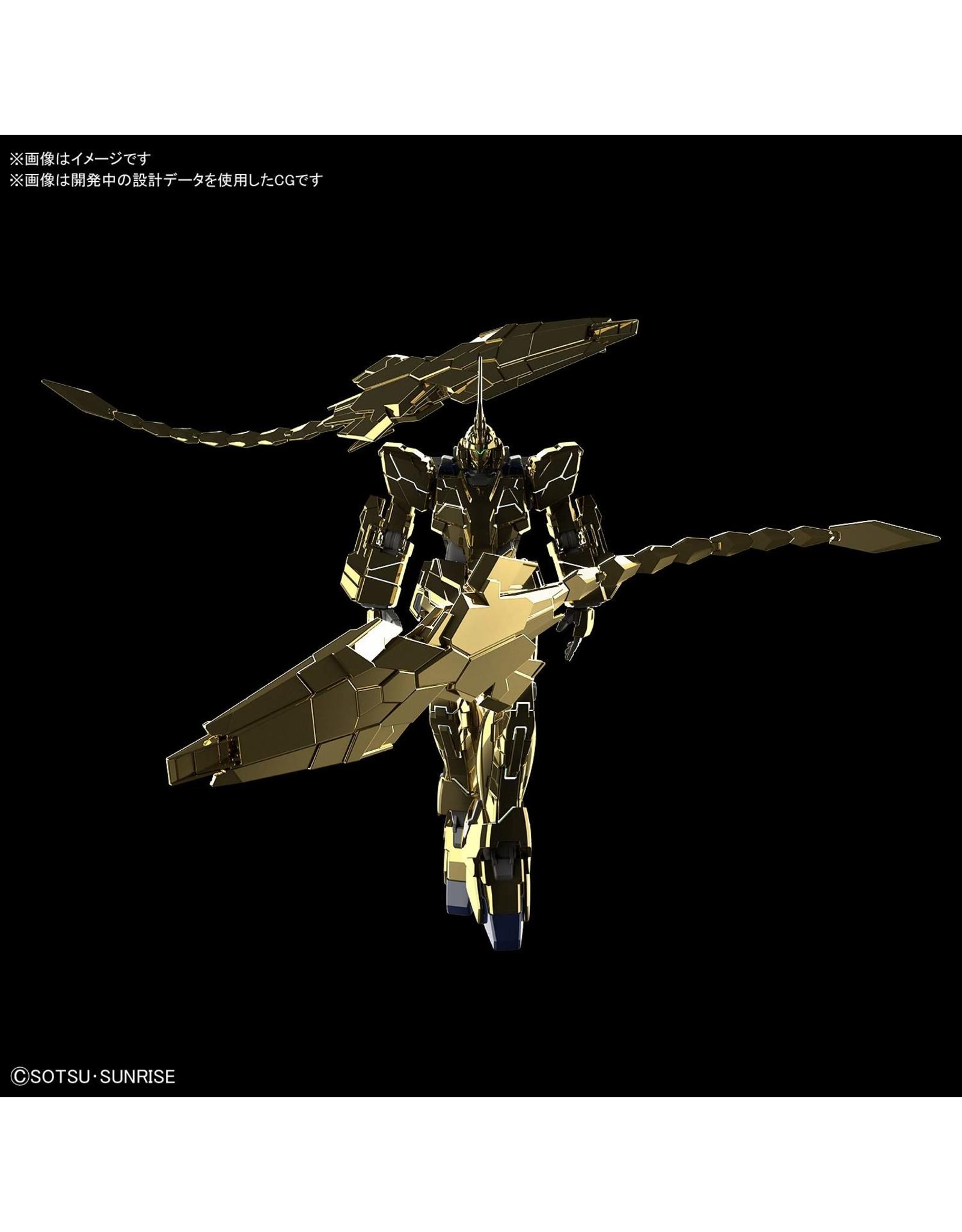 Bandai #227 Unicorn Gundam 03 Phenex Unicorn Mode NT Ver. Gold Coating