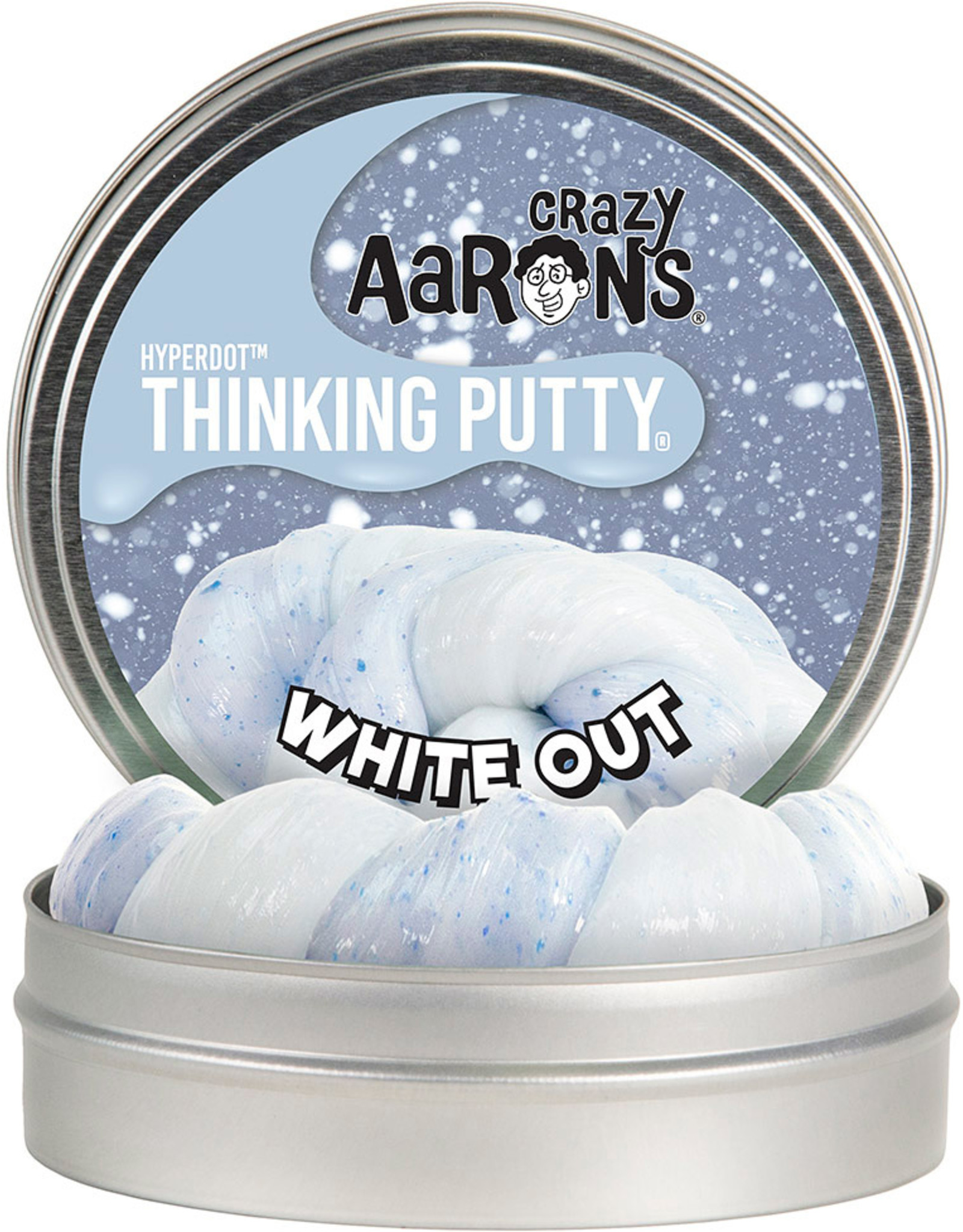 Crazy Aarons 3.2 oz - White Out Thinking Putty