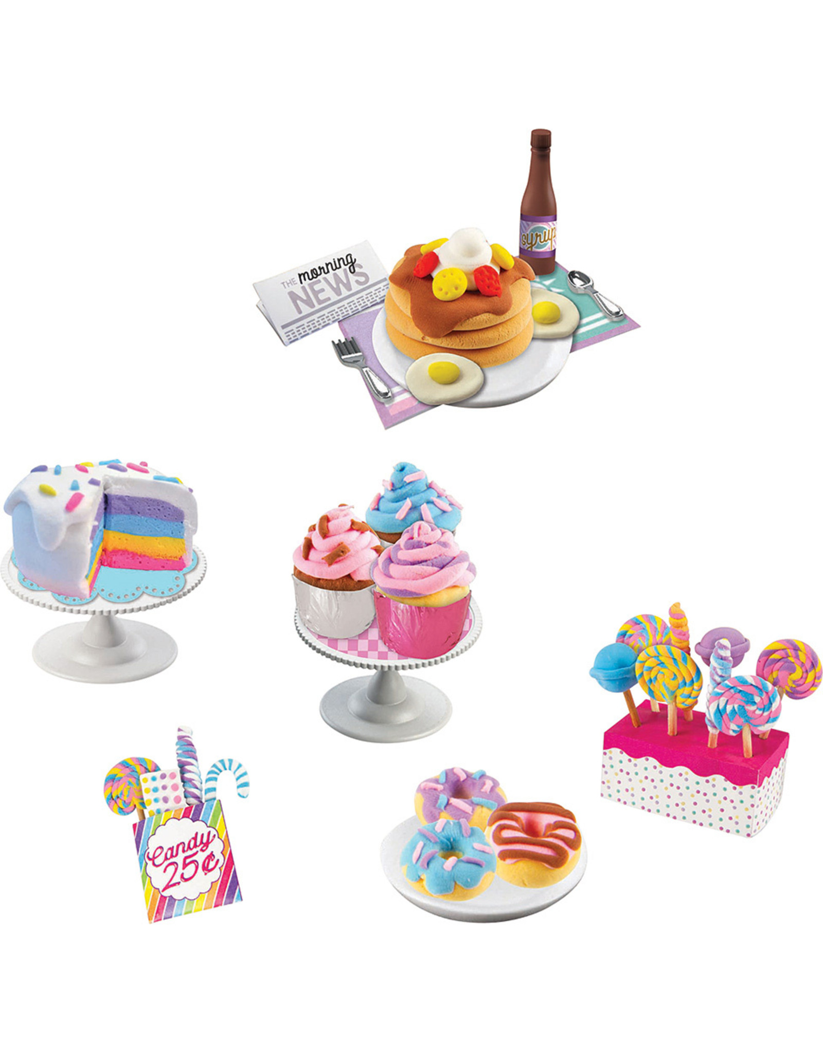 Fashion Angels Enterprises 100% Extra Small Sweets Mini Clay - 5 Pack