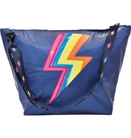 Iscream Lightning Bolt Rainbow Weekender Bag
