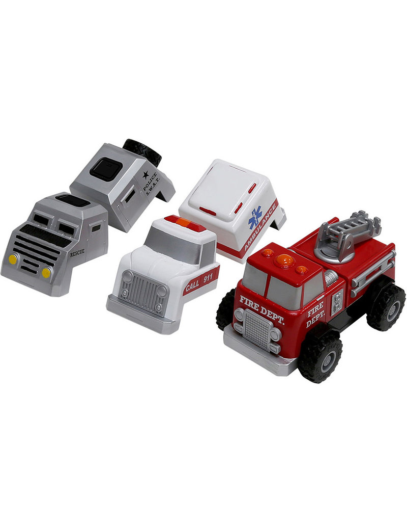 Popular Playthings Magnetic Build-A-Truck - Fire and Rescue