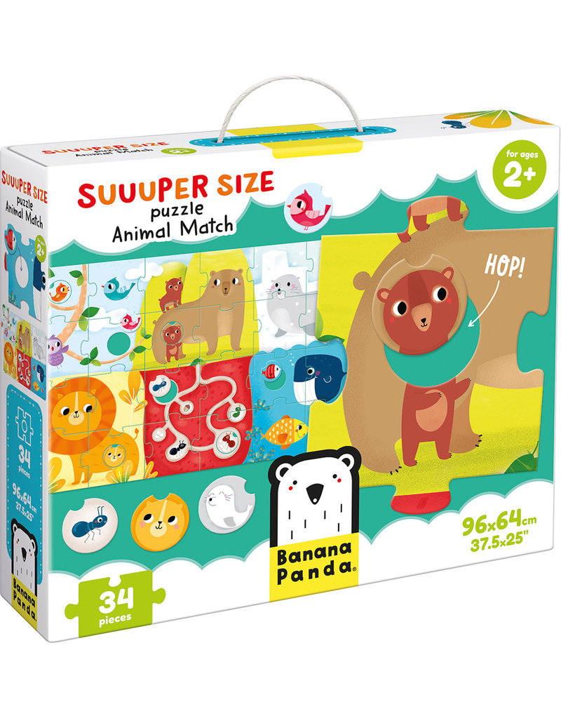 Banana Panda Suuuper Size Puzzle: Animal Match