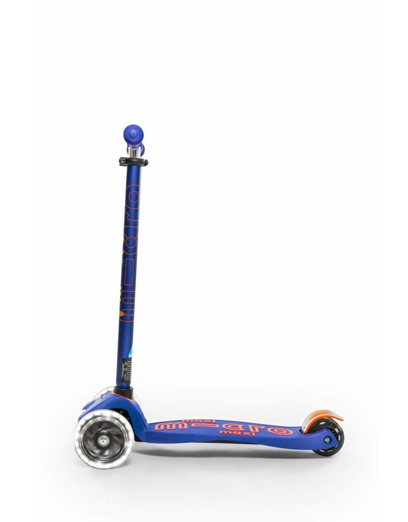 Micro Kickboard Micro Maxi Deluxe LED Blue Scooter