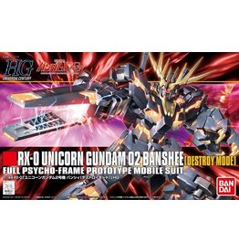 Bandai #134 Unicorn Gundam 02 Banshee (Destroy Mode)
