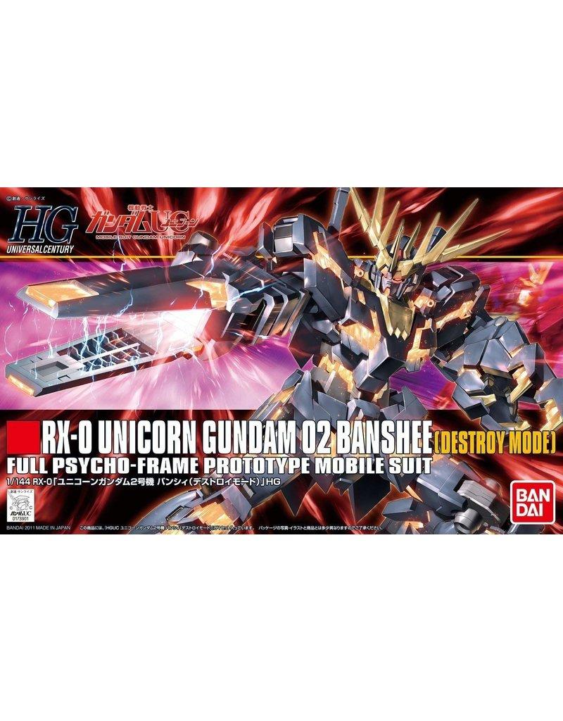 Bandai #134 Unicorn Gundam 02 Banshee (Destroy Mode)