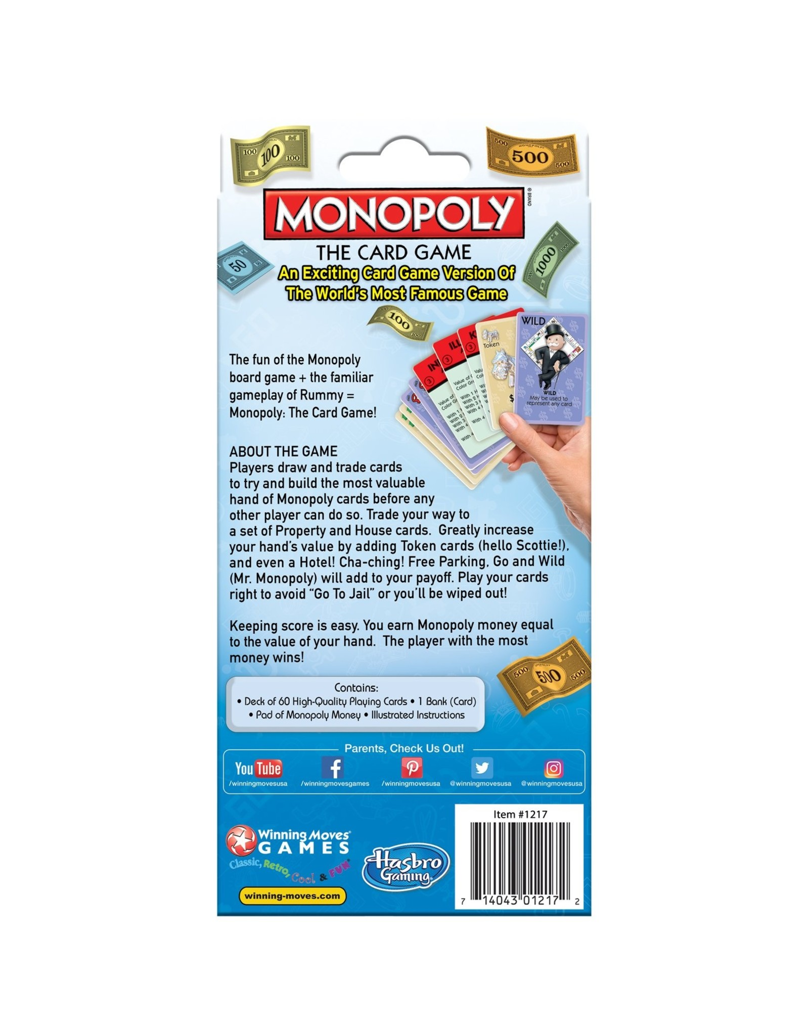 Winning Moves Monopoly Card Game