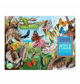 Eeboo Butterflies and Moths - 1000 Piece Puzzle