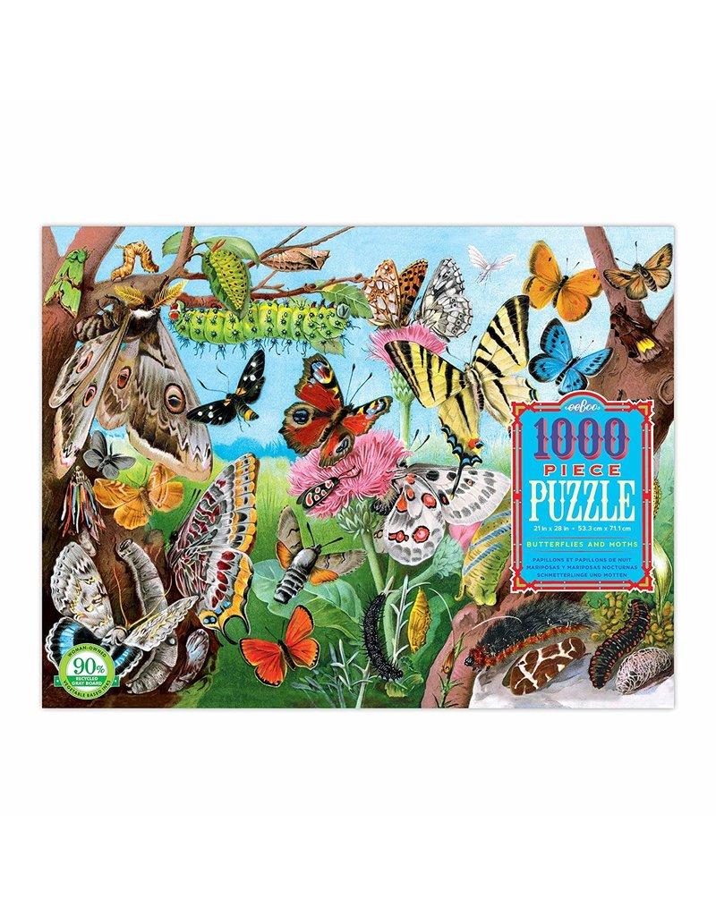 Eeboo Butterflies and Moths - 1000 Piece Puzzle