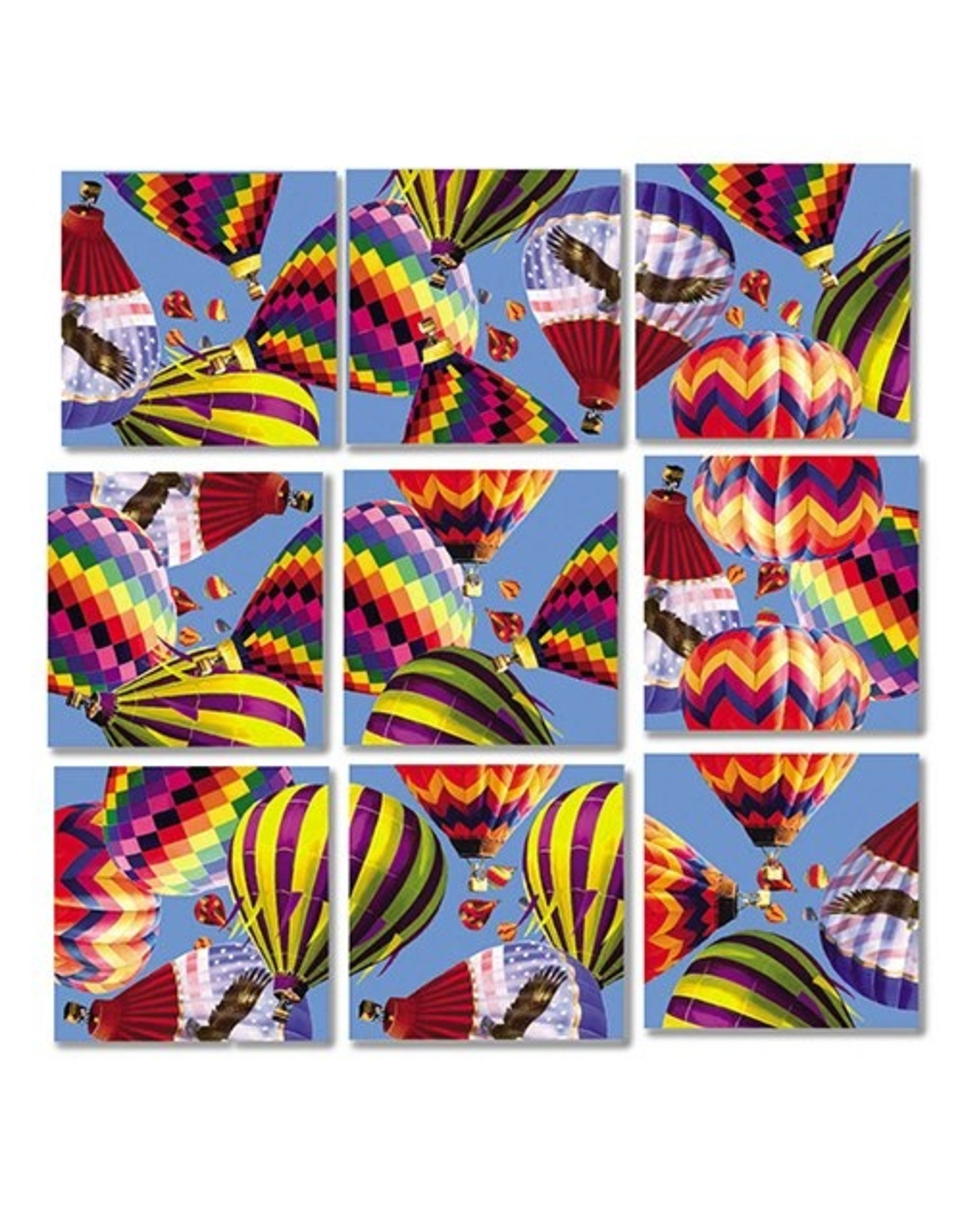 b.dazzle, inc. Hot Air Balloons Scramble Squares
